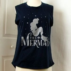 Disney Little Mermaid Sleeveless Blue T Shirt S